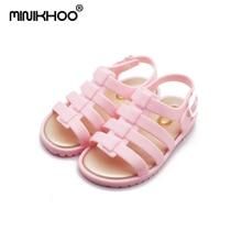 Mini Melissa 2018 Mini Anak Sepatu Jelly Roman Perempuan Laki-laki Sandal Berongga Sepatu Bayi non-slip Sandal Sepatu Berkualitas Tinggi