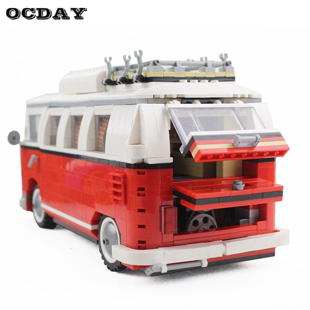 Camping Car Model Car Building Blocks Set Bricks Toys For Kids Gift Camp Van Educational Toys Model Construction Toy for Kids baby toys baby kids educational toys abacus toy building blocks children slippery car patten with four car
