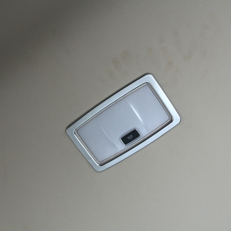 ABS Chrome Rear Row Roof Reading Light Frame Cover Trim For <font><b>Lexus</b></font> <font><b>RX200T</b></font> 450h 2016 1pc Car Styling image