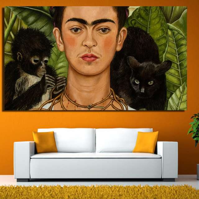 2017 Frida Kahlo printing Wall Art Canvas monet famous impressionist paintings picture print on canvas for living room
