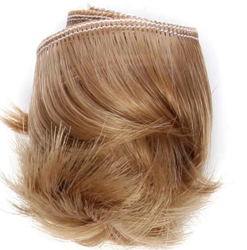 5cm black white brown color short straight doll hair for 1/3 1/4 BJD doll diy fringe hair