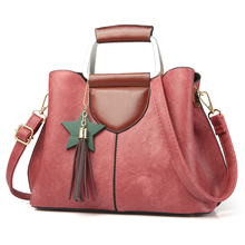 где купить 2017 Fashion PU Leather Handbags Women Tote Shoulder Bag Bucket Women Bag Designers Famous Brand Ladies Messenger Bag Sac по лучшей цене