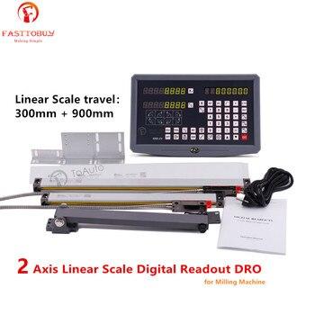Путешествия: 300 мм и 900 мм 2 оси линейная шкала линейный энкодер цифровая индикация DRO для фрезерного станка