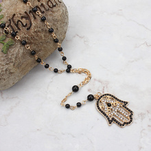 gold chain hamsa necklace