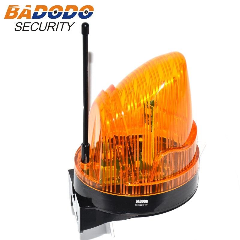 Широкий напряжение 110 В AC 220VAC 24VDC светодиодный мигающая Сигнализация лампа мигалка стробоскоп для автоматическое открывание дверей (без зву...