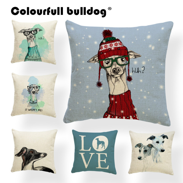 covers cushions pillow throw deer watercolor outdoor pillows print on christmas cover cat decorative cool item