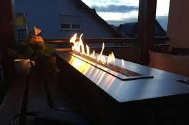 48 Inch Remote Control Intelligent Silver Or Black  Bioethanol Fire Outdoor