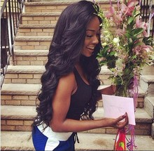 Mimi hair Cheap Glueless synthetic lace front wig Natural Black Long Body Wave Synthetic Wigs For Black Women