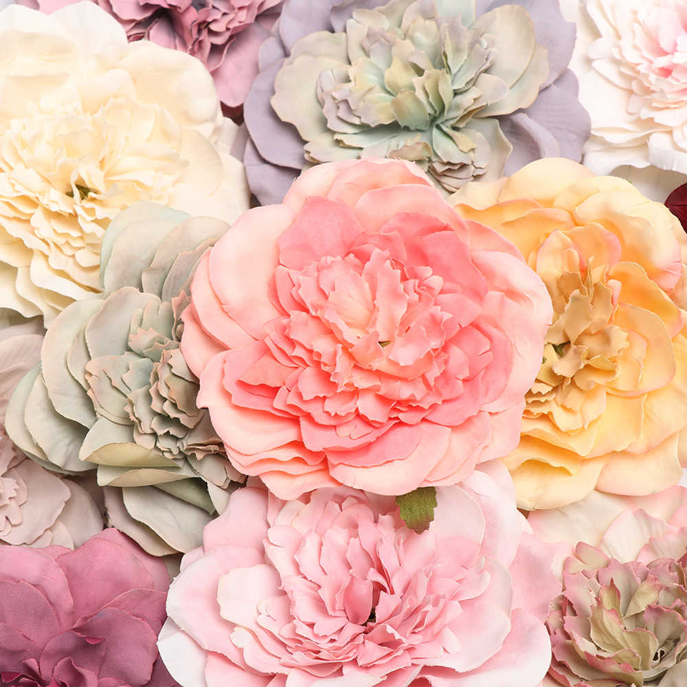 1PC 2019 Beautiful Peony Artificial Silk Flowers Small Bouquet Flores Home Party Spring Wedding Decoration Marriage Fake Flower