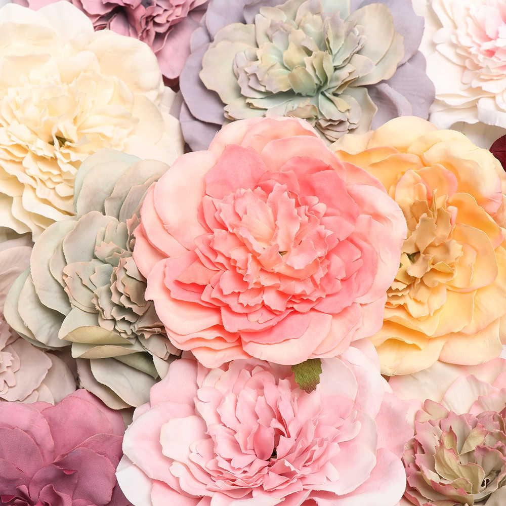 1 قطعة 2019 جميلة الفاوانيا زهور صناعية من الحرير باقة صغيرة فلوريس حفلة المنزل ربيع الزفاف الديكور الزواج ورد صناعي