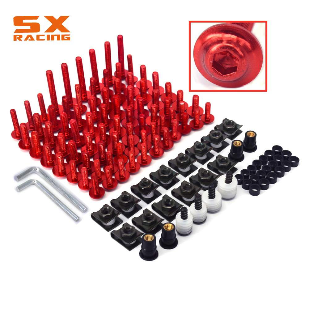 Motorcycle Scooter Complete Fairing Body Bolts Screw Set for HONDA All Most Motorcycle model CBR1000RR CBR600RR ZX6R ER6N silabs cp2102 usb rs232 to rj11 rj12 rj45 converter cp2102 usb serial adapter cable