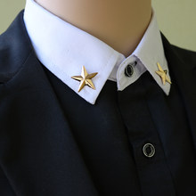 i-Remiel Korean Little Star Brooch Badges Men's and Women's Blouses Five Pointed Star Shirt Collar Pins and Brooches Accessories(China)