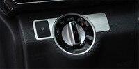 2pcs Set Head Light Switch Button Cover Trim Sticker For Mercedes CLA Class C117 W117 Benz