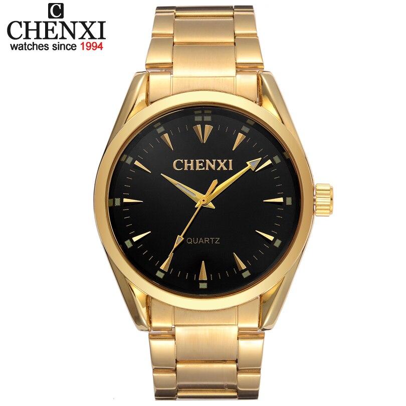 Nouvelle Montre En Or Hommes De Luxe Marque CHENXI Montre-Bracelet Homme Horloge D'or Bracelet En Acier Inoxydable Montres À Quartz Mode Homme Montres IPG