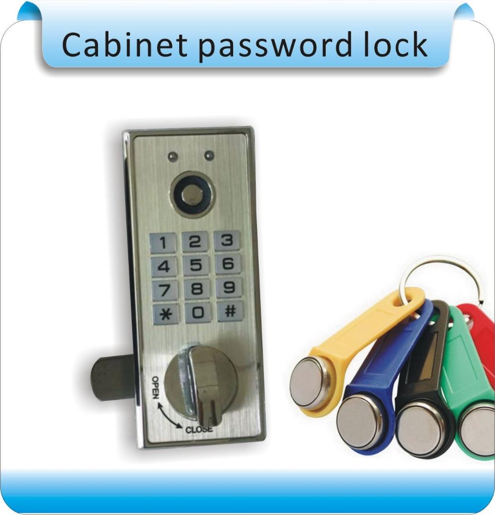 Free shipping Metal sheel TM card cabinet locks Digital Electronic Password keypad number Cabinet Code locks