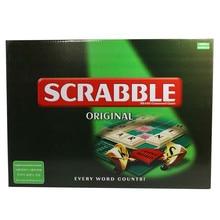 6 รุ่นภาษาอังกฤษฝรั่งเศสสเปน Scrabble เกมเด็กปริศนาคำไขว้เด็ก BOARD การสะกดตารางจิ๊กซอว์คำสอน Aid