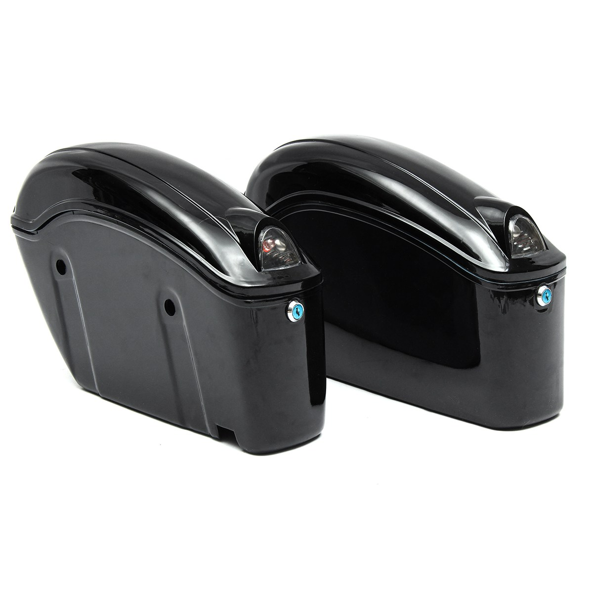 1 Pair Motorcycle Saddle Bags Retro Waterproof Motorbike Tail Rear Bags Large Capacity Tool Bag For Harley-Davidson