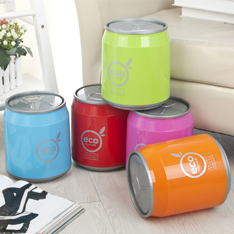 Aliexpress.com : Buy 2017 Colorful Cola Portable Plastic Dustbin Kitchen Trash  Can Mini Table Waste Bin Container Desk Organizer Kids Garbage From  Reliable ...