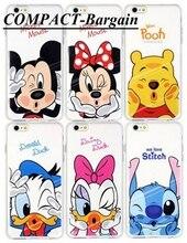 Engraçado Minnie Mickey dos desenhos animados suave TPU caso Para Apple iPhone 5 5S SE 6 6 s 6 plus personagens IMD gel tampa traseira da pele Coque Capa Para