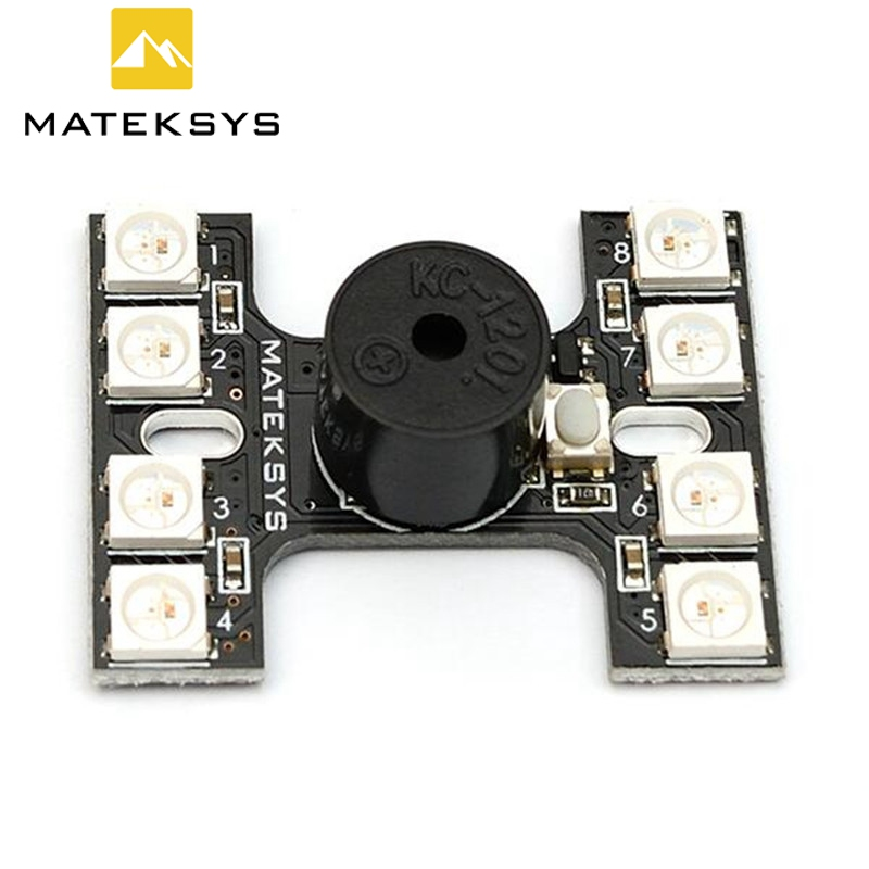 Hot Sale! Matek <font><b>LED</b></font> Tail <font><b>light</b></font> WS2512B With Loud Buzzer Lost <font><b>Plane</b></font> Finder Dual Modes For FPV Racer <font><b>RC</b></font> Racing Drone Helicopter image