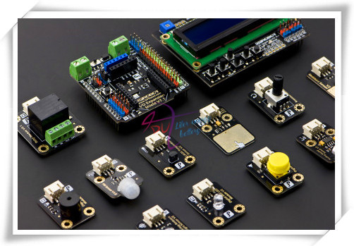 Modules  Start sensor Kit for Intel Edison/Galileo, include IO sensor expansion V7 + LCD Key Expansion Board + Other Sensors etc