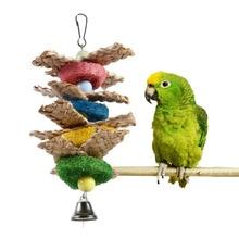 Towel Gourd Handmade Parakeet Parrots Bite Chewing Toy Pet Birds Toy C