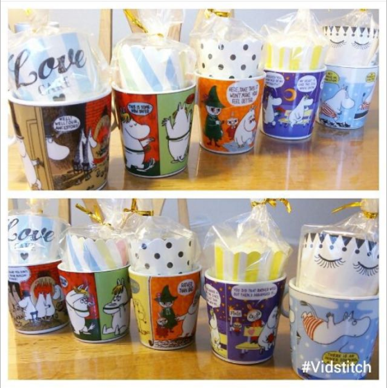 2pcs Lot Moomin Cartoon Ceramic Cake Baking Mini Mug Cup Birthday Gift Collection
