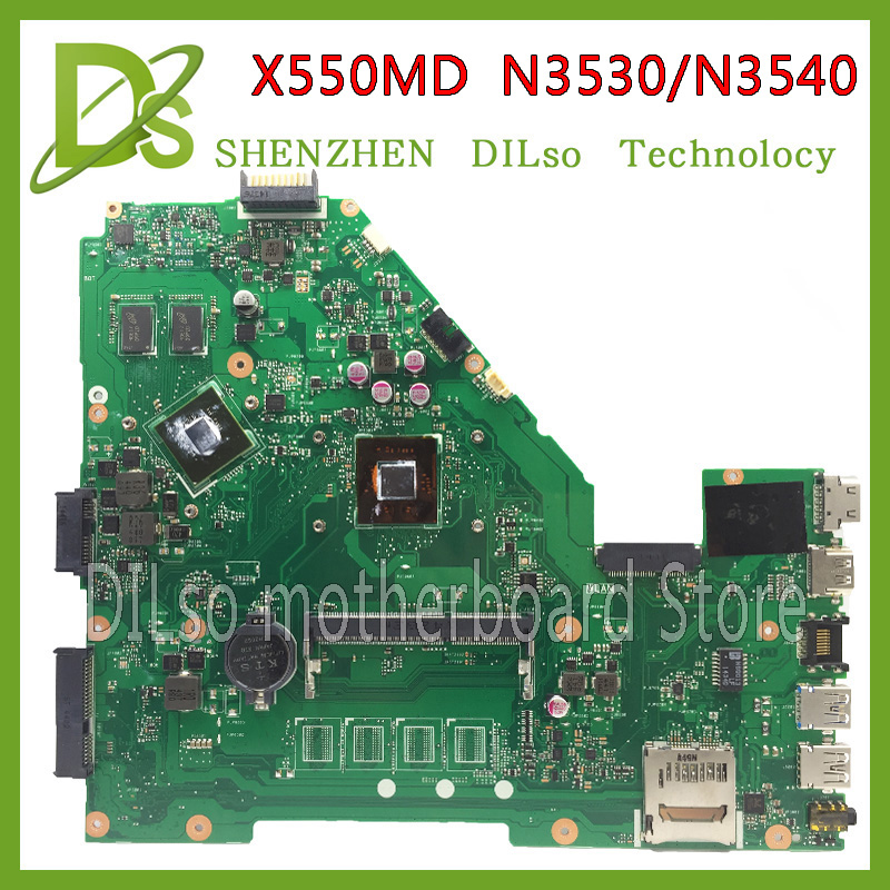 KEFU X550MD motherboard For ASUS X550MD laptop motherboard x550md original new motherboard N3530/N3540 100% tested motherboard hot for asus x551ca laptop motherboard x551ca mainboard rev2 2 1007u 100% tested new motherboard