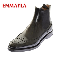ENMAYLA Woman Lace Up Martens Boots  Size 33 - 40 Autumn Winter Cow Leather Slip-on Shoes Genuine Ankle ZYL081