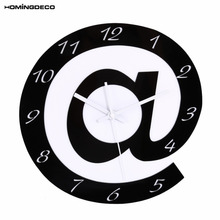 Фотография Homingdeco  Modern Creative Wall Clock Brief Design Acrylic Silent Living Room Wall Clock Round Modern Household  Decor Clocks