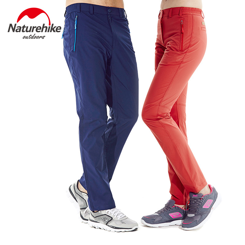 Brand Naturehike Outdoor mountaineering sports pants quick-drying Breathable light pants for men and women lovers sport pants outdoor sport pants stitching breathable quick drying pants cycling hiking camping fishing running jogging luminous sports pants