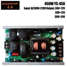 TIPTOP YC-450 450 Вт светодиодное Освещение сцены Питание 108×3 Вт Led Moving Head Light/36×10 вт Увеличить Led Moving головной свет/аудитории свет