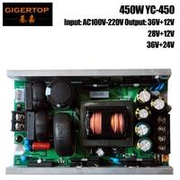 TIPTOP YC 450 450W Led Stage Lighting Power Supply 108x3w Led Moving Head Light/36x10w Zoom Led Moving Head Light/Audience Light