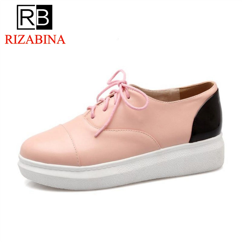 Noir Simple Taille rose Lace Femmes 43 Blanc 33 blanc Bout Étudiants pink Appartements Femme Rond white Up Chaussures Rizabina Mode Sneakers black a7gTqxwad