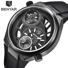59e14dba55c BENYAR Sport Men Watches Skeleton Military Chronograph Quartz Man Outdoor  Big Dial Watch Army Male Clock ...