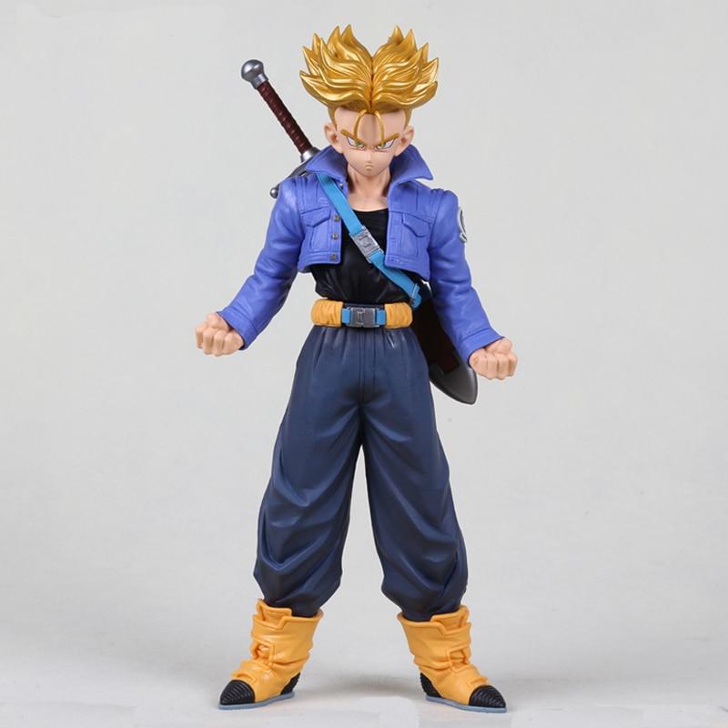 Anime Dragon Ball Z Super Saiyan Trunks Action Figure Brinquedos MSP DragonBall Figures კოლექცია მოდელის სათამაშოები Menino Juguetes