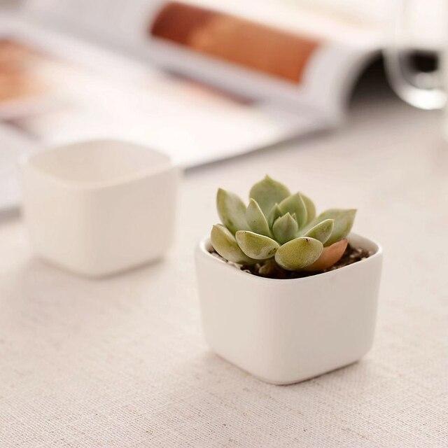Freies verschiffen blumentopf Mini innentopfpflanze weiß keramik ...