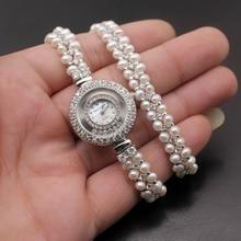 Classic Mode sieraden High End Multi Parel Combinatie Stukken Van Zilver Kleur Bedelarmband Horloge H201