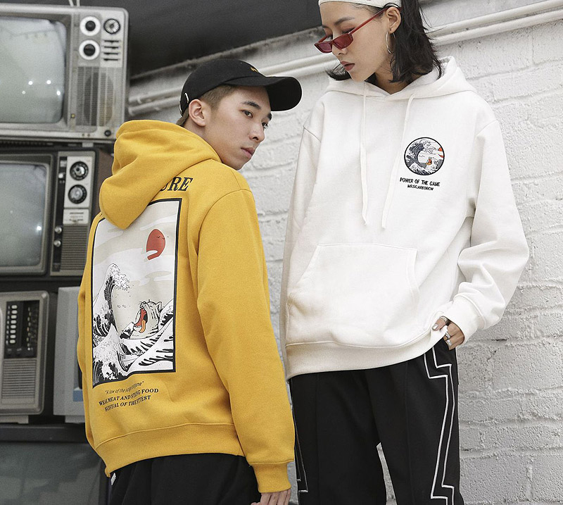Japanese Embroidery Law of Nature Hoodies