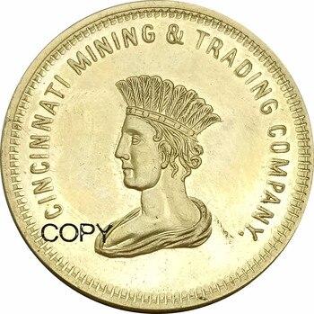 1849 stany zjednoczone 10 dolarów California Cincinnati górnictwo i handel Co. Mosiężna kopia monety