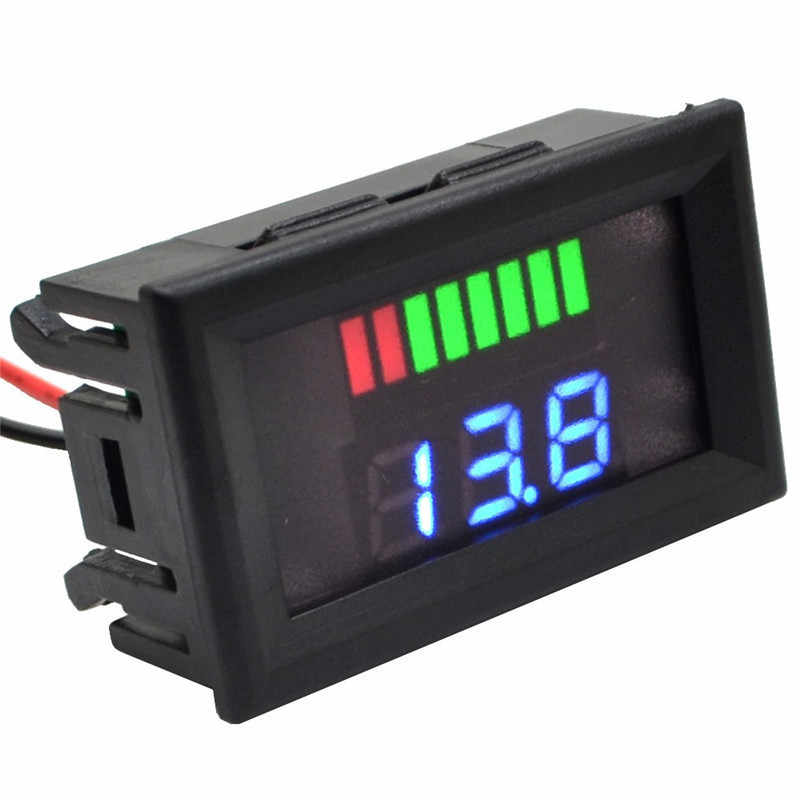 Dc 6-100 V Lood-zuur Electromobile Motorfiets Voltage Power Meter Blauw