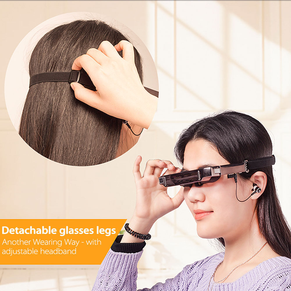 0c179f78ee548c VISION 800 Smart Android WiFi 3D Glasses 80 Inch Virtual Wide Screen Video  Glasses Portable Private Theater 5MP Camera BT4.0-in Video Glasses from  Consumer ...