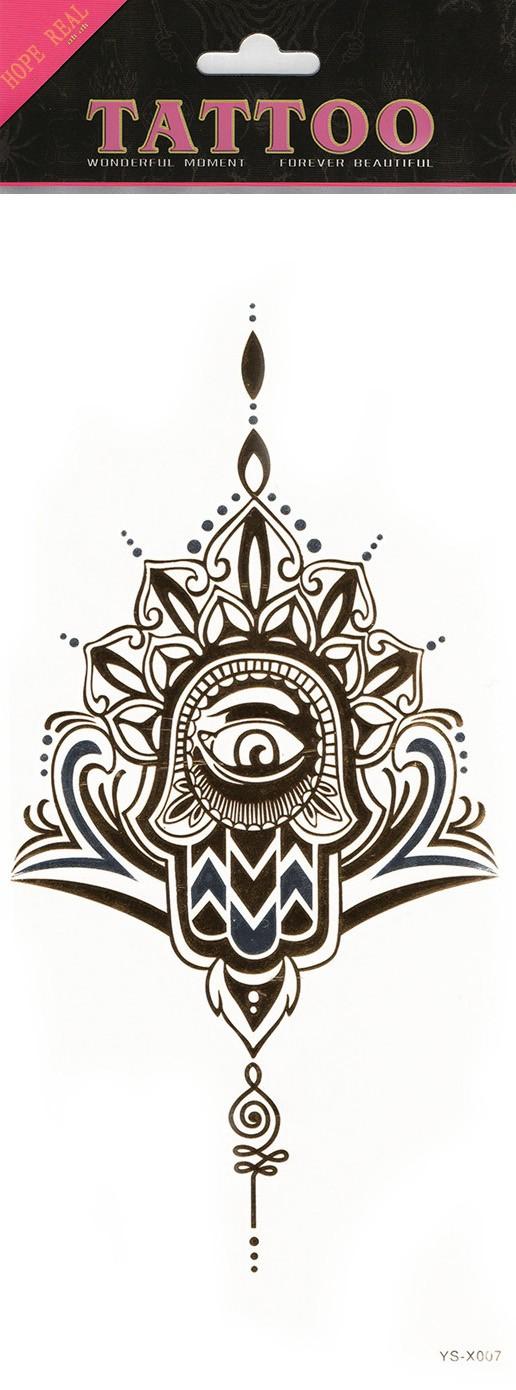 1sheet Flash Tattoo Chest Beast Tattoo Fashion Flower Metalic Tattoo Sticker Temporary Tattoo Chest Body Art Tatuagem Beauty 1