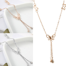 2018 Trend Fashion Simple Hollow Butterfly Double Drill Anklet New Tassel Metal Leisure Wild Lady Temperament