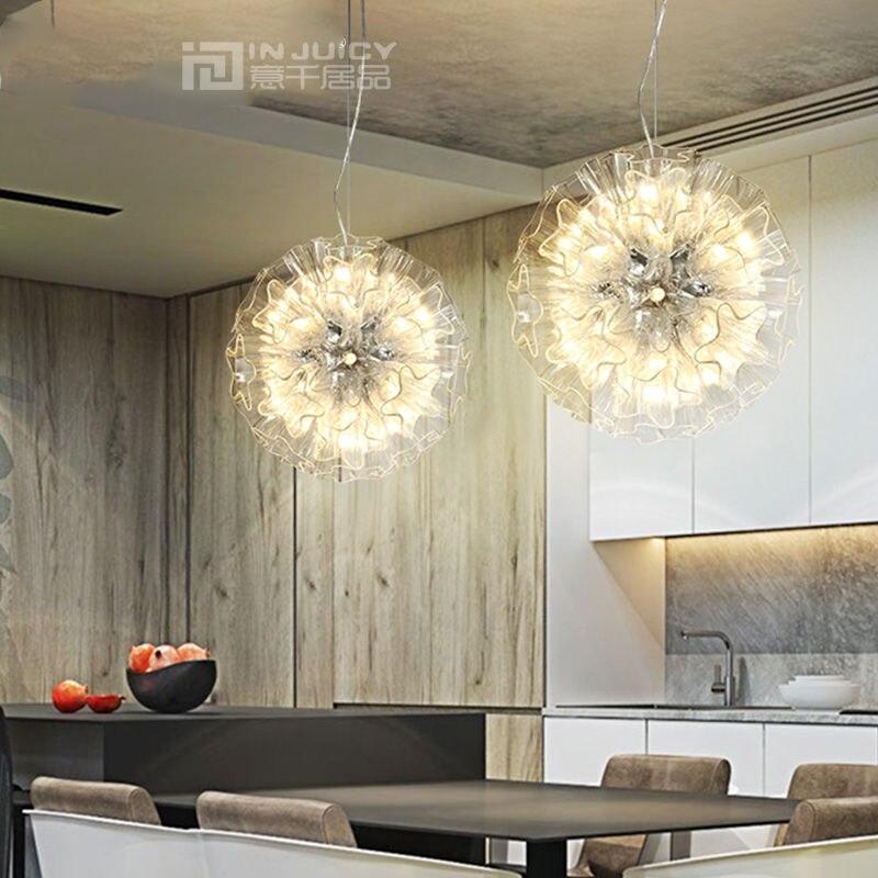 ツ)_/¯Modern G4 LED Iron Glass Butterfly Flower Lamp Chandelier ...