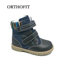 European style dernières enfants garçons cheville casual bottes en cuir véritable chaussures chaussures orthopédiques pour enfants