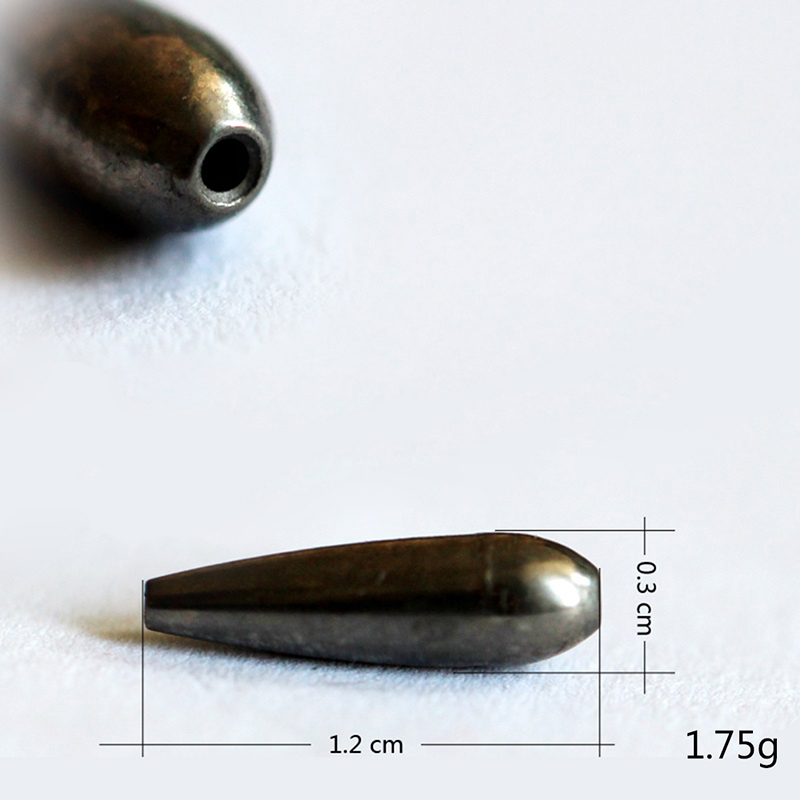 One Piece New Tungsten Bullet Worm Weight Flipping Weight Fishing Sinker Lure Fishing Accessories High Quality