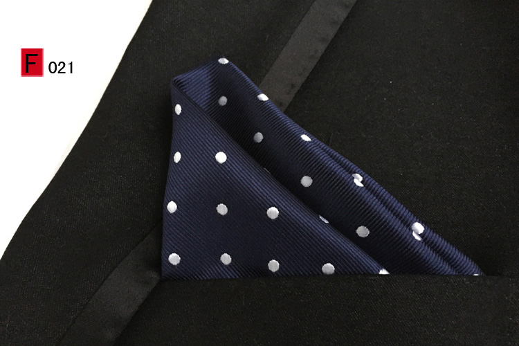 25x25cm Top Fashion Pocket Square Dark Blue With White Dots Handkerchiefs