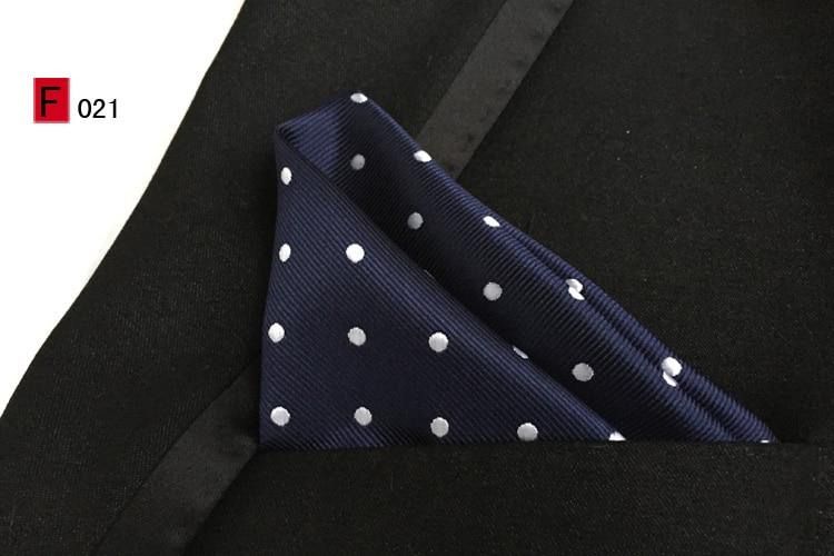 25x25cm Top Fashion Pocket Square Dark Blue With White Dots Handkerchiefs