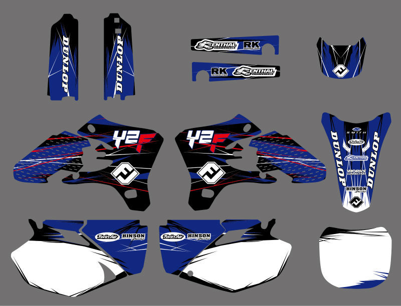 Motorcycle TEAM GRAPHICS DECALS STICKERS Kits for YAMAHA YZ250F YZ450F YZF250 YZF450 2003 2005 YZF 250